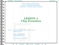 LESSON 4 - Chip Formation - CNC - Computer Numerical Control