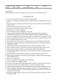 Testo di studio: V. Beonio-Brocchieri, La memoria e il tempo, 2 ...