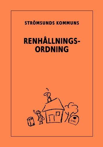 RENHÅLLNINGS- ORDNING - Strömsunds kommun