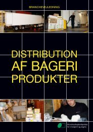 Distribution af bageriprodukter - BAR transport og engros