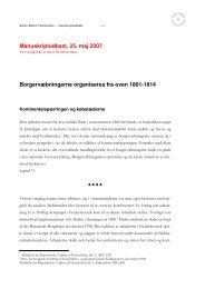 Borgervæbningerne organiseres fra oven 1801-1814