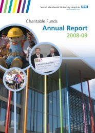 Charitable Funds Annual Report - Central Manchester University ...