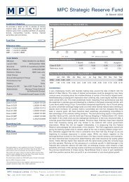 MPC Strategic Reserve Fund - FONDS professionell