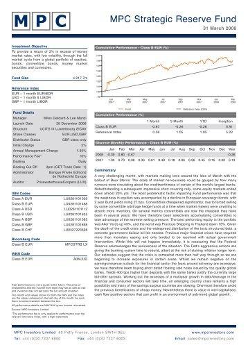 MPC Strategic Reserve Fund - FONDS professionell