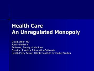 Health Care An Unregulated Monopoly