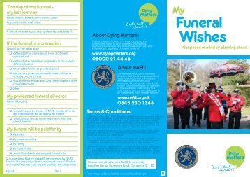 My Funeral Wishes leaflet here - National Association of Funeral ...