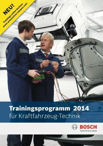 Schulungsprogramm 2014 - Automotive Campus