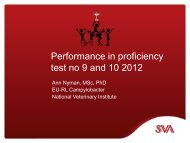 Performance criteria for Proficiency Test (PT) No.9 and 10 - SVA