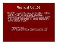 Financial Aid 101 Presentation CFNC.pdf - Randolph County Schools