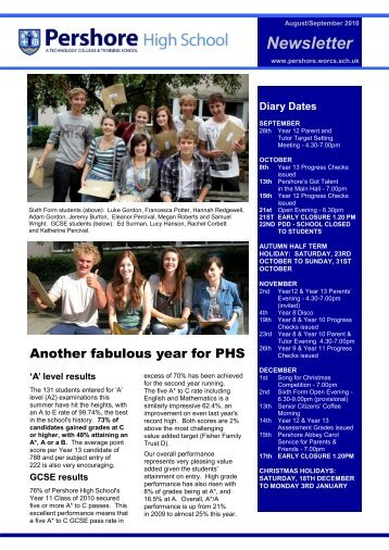 Newsletter - Pershore High School