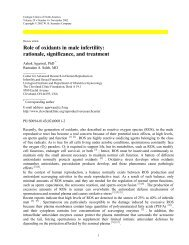 Role of oxidants in male infertility: rationale ... - Cleveland Clinic