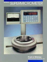 Internal Supermicrometer - Pratt & Whitney