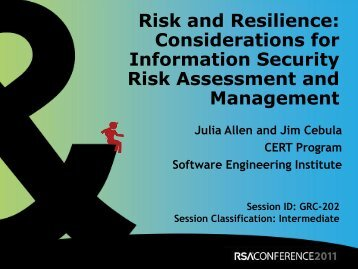 Considerations for Information Security Risk - Cert