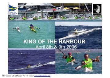 king of the harbour - Waka Ama
