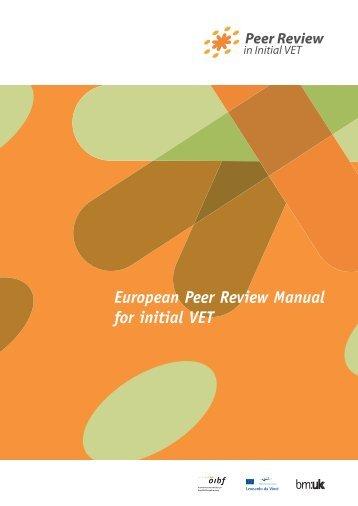 European Peer Review Manual