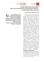 Se dire Manouche, Rom, Gitan - Département de géographie - Ens