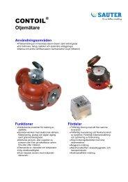 CONTOIL ® Huvudbroschyr 2008 - Sauter Automation AB