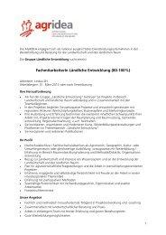 FachmitarbeiterIn Ländliche Entwicklung (80-100%) - Naturschutz.ch