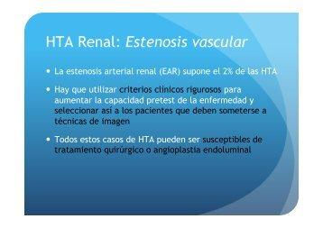 HTA Renal: Estenosis vascular