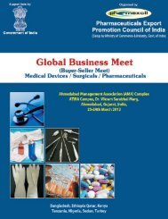 Download Brochure - pharmaceuticals export promotion council of ...