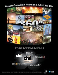 Reach Canadian MEN and ADULTS 19 + - Chill Magazine