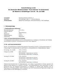 Ausschreibung zu den 40. Deutschen Meisterschaften