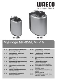 MyFridge MF-05M, MF-1M - Waeco