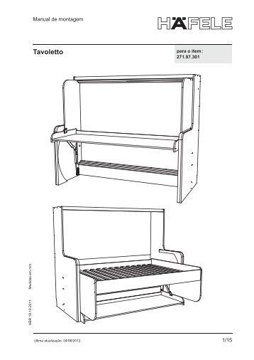 Tavoletto Casal – Manual de montagem - Häfele