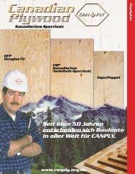 Seit über 50 Jahren in aller Welt für CANPLY. - Canadian Plywood ...