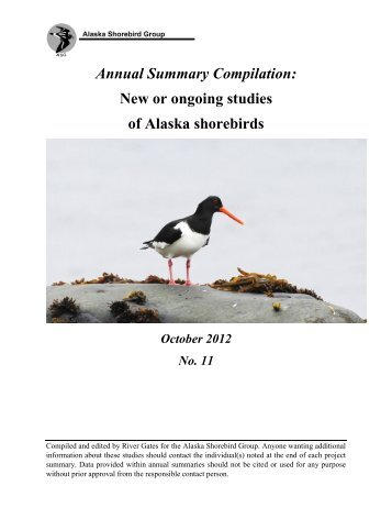 Alaska Shorebird Group Annual Summary Compilation