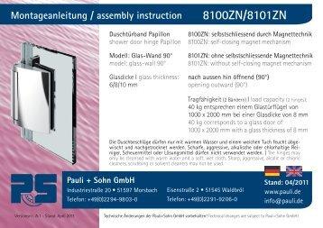 Montageanleitungen Papillon 8100/8101, G-W 90° (PDF 3.8 ... - Pauli