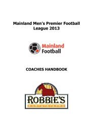 2013 Men Premier Football League Handbook - Mainland football