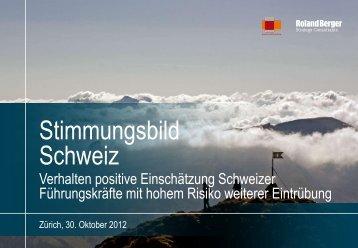 Stimmungsbild der Schweizer Wirtschaft (PDF ... - Roland Berger