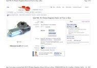 Saab 900, 99, Window Regulator Motor LH Front or Rear Page 1 of ...
