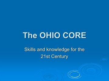 The OHIO CORE - Findlay City Schools