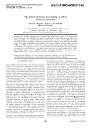 Optimized Dynamic Decoupling in Active Vibration Isolation