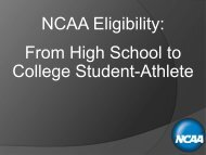 NCAA Eligibility: From High School to College Student-Athlete - USSA