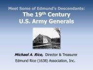 The 19th Century US Army Generals - Edmund Rice