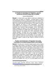 La fiscalité et la dynamique de l'intégration : cas de ... - Union africaine
