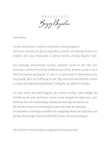 a la Carte Oktober2011 - Kurhaus Ahrenshoop