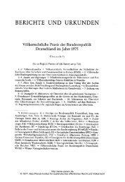 Völkerrechtliche Praxis der Bundesrepublik Deutschland im Jahre ...