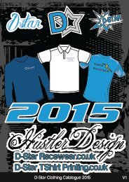 D-Star T-Shirt Printing Catalogue 2015 - V1