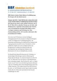 BBF.kleintier.konkret Baden-Badener Fortbildungstage Der Kongress ...