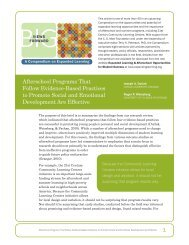 1 Afterschool Programs That Follow Evidence-Based Practices to ...