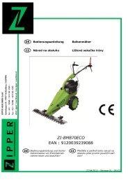 Návod k použití ZI-BM870ECO