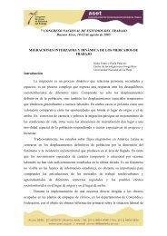 7º CONGRESO NACIONAL DE ESTUDIOS DEL TRABAJO ... - ASET