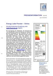 PRESSEINFORMATION 12-03-59 Energy Label Fenster – Online