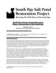 Abstracts (PDF) - South Bay Salt Pond Restoration Project