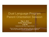 Dual Language Program Parent Orientation Session