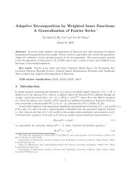 Adaptive Decomposition by Weighted Inner Functions - Faculty of ...